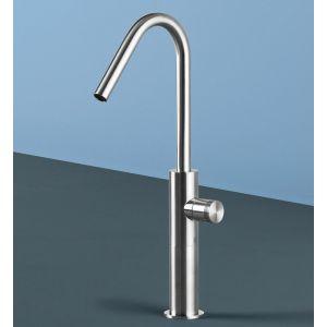 Rubinetto per lavabo in acciaio inox con un design sinuoso modello Hiro - Radomonte - Edilvetta Verona