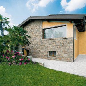 Pietra finta-ricostruita Bergamo Beige Credaro Biopietra da rivestimento interno ed esterno
