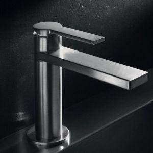 Rubinetto per lavabo in acciaio satinato modello Macò - Geda Nextage - Edilvetta Verona