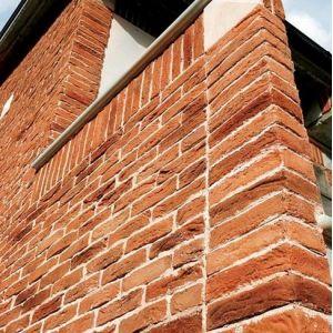 Pietra finta-ricostruita Listello Toscana Rosso Biopietra da rivestimento interno ed esterno - Edilvetta Verona