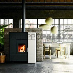 Stufa Multifire con funzionamento misto legna e pellet 9 - 14 kw Hugo Palazzetti