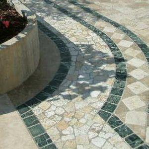 Pavimentazione in ciottoli di marmo travertino - Ciottoli di Torresan