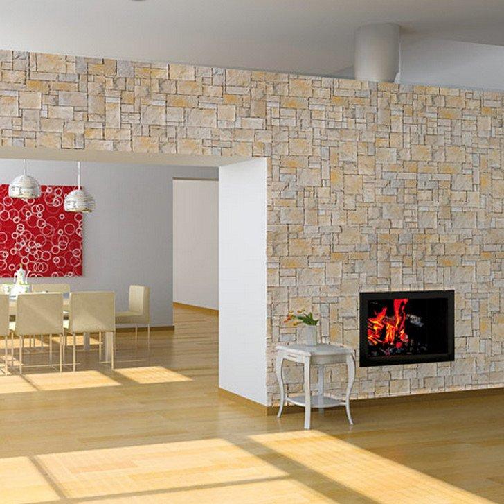 Pietre e mattoni ricostruiti verona edilvetta - Rivestimento finta pietra interno ...