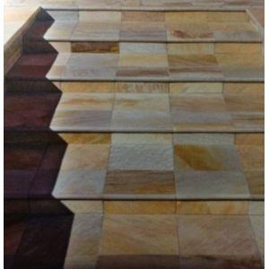 Pietra naturale quarzite oro palladiana opus per rivestimento faccia a vista da interno ed esterno