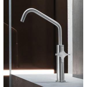 Rubinetto per lavabo in acciaio inox di ispirazione neo-pop modello Dixi - Radomonte - Edilvetta Verona