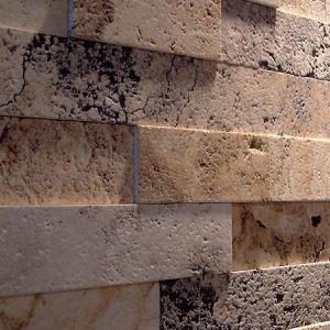 Rivestimento con ciottoli di marmo travertino - Ciottoli di Torresan