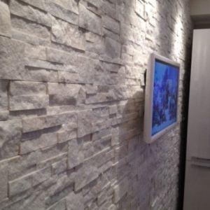 Pietra naturale Marble bianco quarzite per rivestimento faccia a vista da interno ed esterno