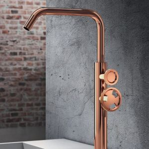 Rubinetto rialzato per lavabo finitura rosee lucida modello Tibò - Geda Nextage - Edilvetta Verona
