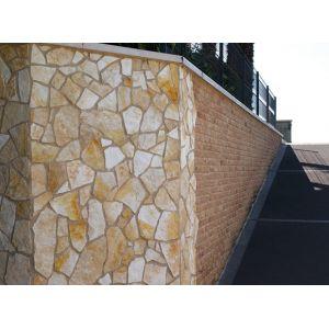 Pietra naturale gialla Mister Brick per rivestimenti faccia a vista da interni ed esterni
