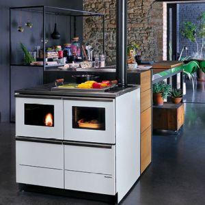 Cucina a pellet che funziona come una caldaia Bella Idro 15 - 20 kw Palazzetti