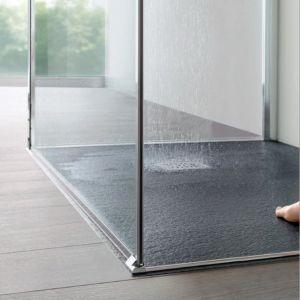 Piatto doccia in Pietrablu effetto ardesia, pietra, cemento a flo pavimento Trendy - Arblu - Edilvetta Verona