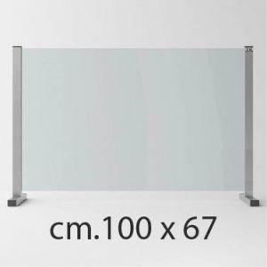 Barriera Protettiva Anti Covid in Cristallo Temperato cm.100x67
