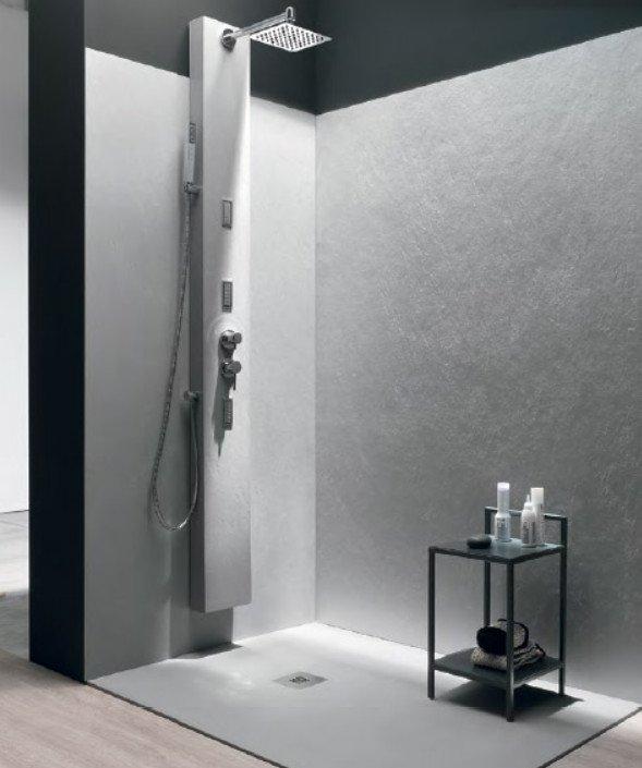 Pannello rivestimento pareti bagno e doccia design moderno - Resina per pareti bagno ...
