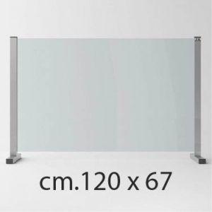 Barriera Protettiva Anti Covid in Cristallo Temperato cm.120x67