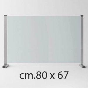 Barriera Protettiva Anti Covid in Cristallo Temperato cm.80 x 67