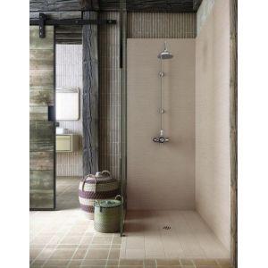 Pannelli rivestimento doccia finitura rustica abbinata al piatto Fiora Silex Rustica 1 - EDILVETTA Verona