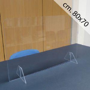 Barriera Protettiva Anticontagio in Acrilico cm. 80x70