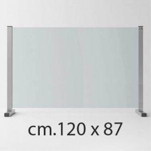 Barriera Protettiva Anti Covid in Cristallo Temperato cm.120x87