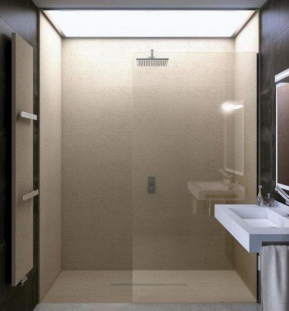 Pannello rivestimento pareti bagno e doccia design moderno - Bagno con doccia ...
