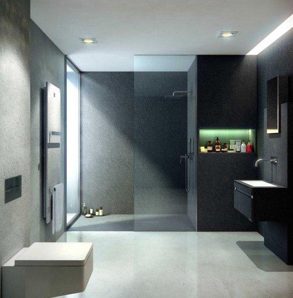 Pareti attrezzate moderne - Rivestimento bagno moderno ...