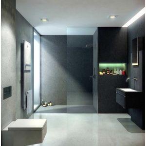 Pannelli per rivestimento pareti bagno e doccia e abbinabili al termoarredo, al piatto doccia e al mobile bagno Skin Fiora