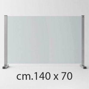 Barriera Protettiva Anti Covid in Cristallo Temperato cm.140 x 70