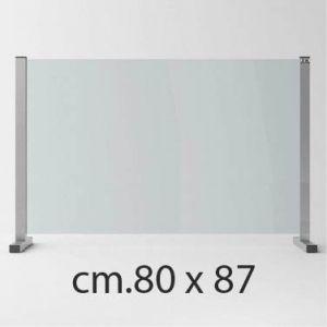 Barriera Protettiva Anti Covid in Cristallo Temperato cm.80x87